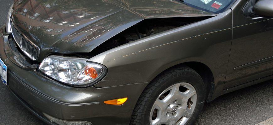 Crashed Car Damage Dent Hood Crash