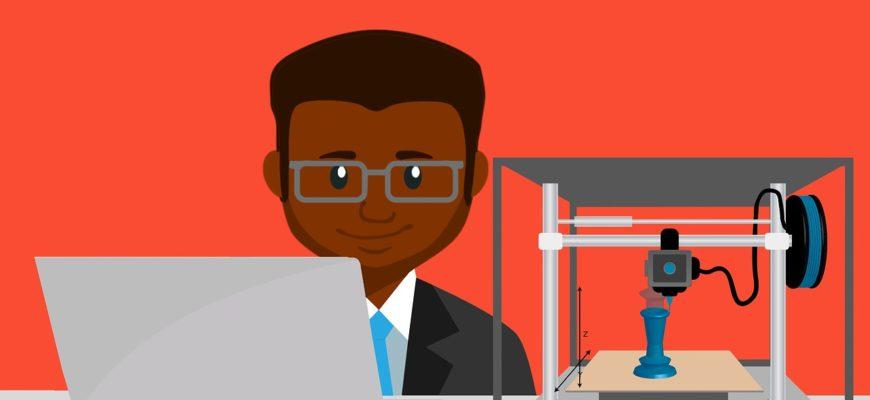 Printer D Laptop Prototype Man  - mohamed_hassan / Pixabay