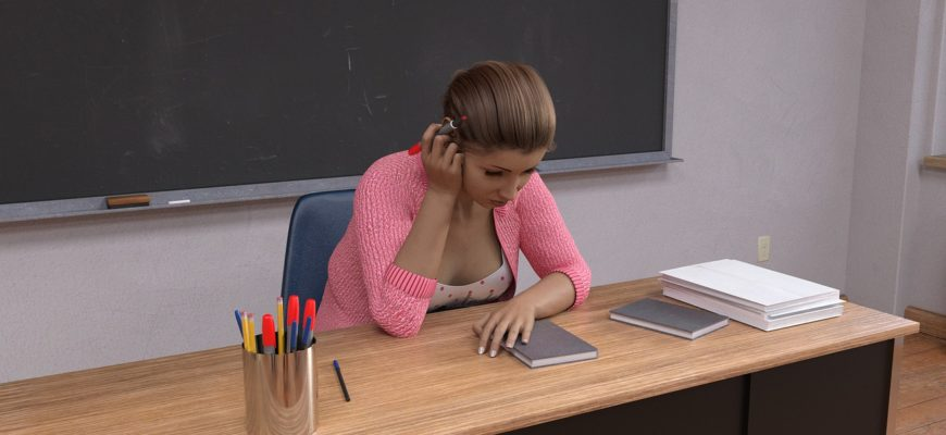 Teacher Classroom Desk Study  - Eldarion_Gil / Pixabay
